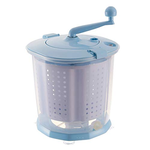 DIOE Portable Hand Cranked Manual Clothes Non-Electric Washing Machine and Spin Dryer, Counter Top Washer/Dryer for Camping, Apartments, RV's(Gray,Blue)