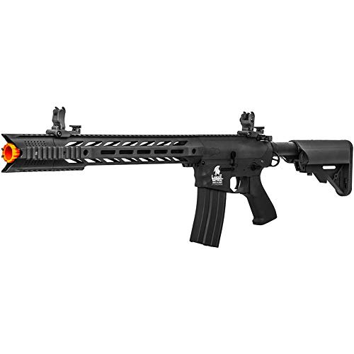 Lancer Tactical Gen 2 SPR Interceptor LT-25 AEG Aerosoft Gun, Black, High FPS (LT-25B-G2)