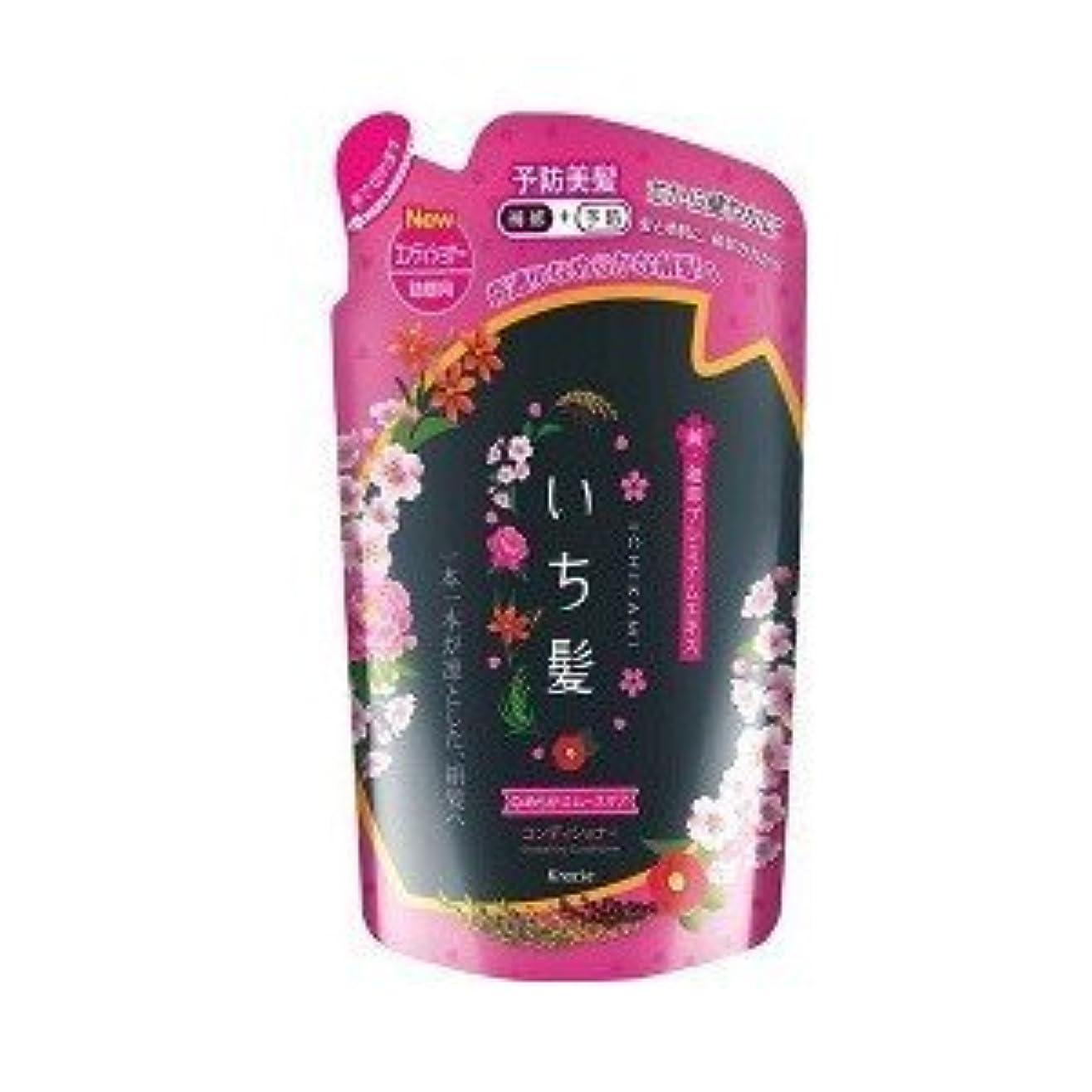 容器壁紙強制(クラシエホームプロダクツ)いち髪 なめらかスムースケア コンディショナー 詰替用 340g(お買い得3個セット)