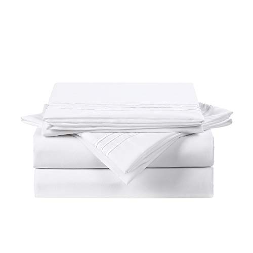 600 Thread Count 100% Cotton Sheets for Queen Size...