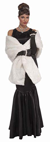 Forum Novelties womens Vintage Hollywood Faux Mink Stole Adult Sized Costumes, White, One Size US