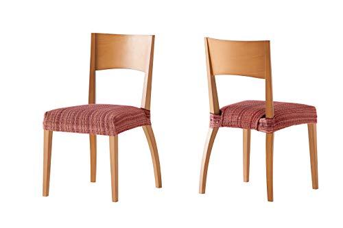 Pack de 2 Fundas de Asiento para silla modelo MEJICO, color BURDEOS, medida 40-50 cm ancho. ⭐