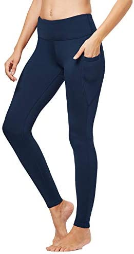 FitsT4 Women s High Waisted Fleece Lined Thermal Legging Tights Winter Yoga Pants with Pockets product image