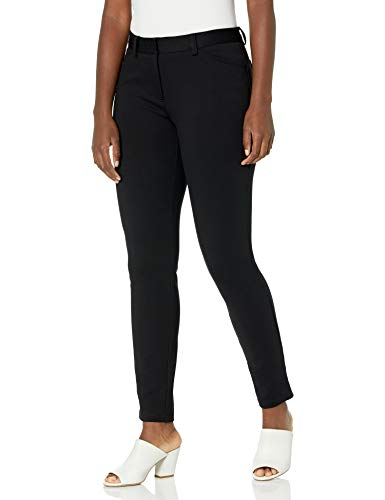 Calvin Klein Women's 4 Pocket Compression Pant, Black, 10