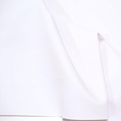 TOLKO Premium Bezugstoff/Möbelstoff zum Polstern Beziehen   Polster-Stoff Bezug für Innen und Außenbereich UV-beständig Wasserdicht   140cm Breit Polsterstoffe Bezugstoffe Meterware 50cm (Weiß)