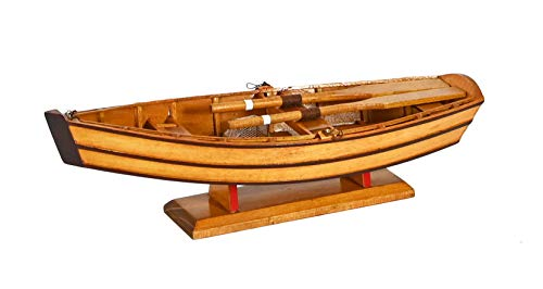 Navyline Maqueta de remo de madera, 34 x 11 x 9,5 cm, modelo de barco