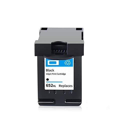 SSBY Reemplazo de Cartucho de Tinta Compatible para HP 652XL Uso con Deskjet Ink Advantage 1115 1118 2135 2136 2138 2675 2676 2677 2678 3635 3636 3638 3700 Cartucho de Tinta-Black