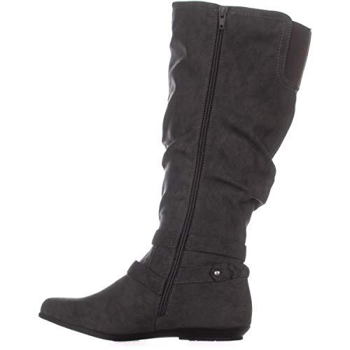 CLIFFS BY WHITE MOUNTAIN Womens Fairfield Riding Boots Gray 5 Medium (B,M)