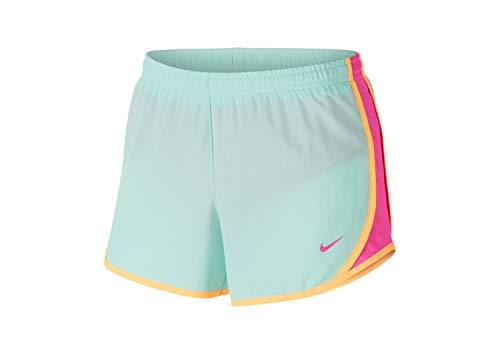 Nike Girl`s Dri FIT Dry Tempo Running Shorts (Teal Tint/Laser Fuchsia/Laser...