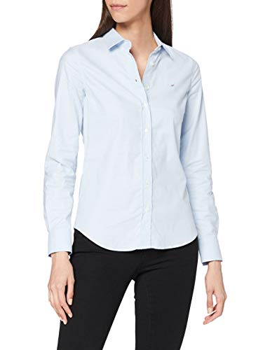 GANT Damen Stretch Oxford-Solid Shirt Bluse, Blau (Light Blue 455), 46