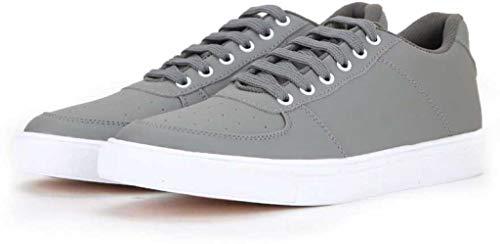 T-Rock Men's Sneaker Casual Shoes (Grey, Numeric_8)