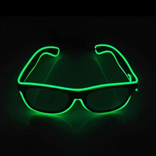 Leuchtend Brille Einstellbar LED Brille beleuchten, Neuheit Party Verkleiden Dekor (Grün)