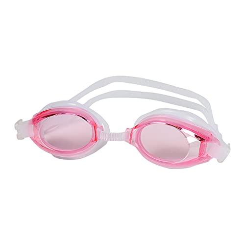 YWSZY Gafas Natacion, Gafas de Silicona a Prueba de Agua para niños Gafas de natación para Adultos Gafas Ajustables Gafas de natación Anti-Niebla y Anti-UV (Color : Pink)