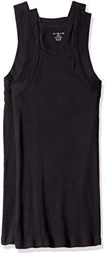 Evolve Men's Cotton Comfort Square Cut Tank Multi Pack, Black, X-Large