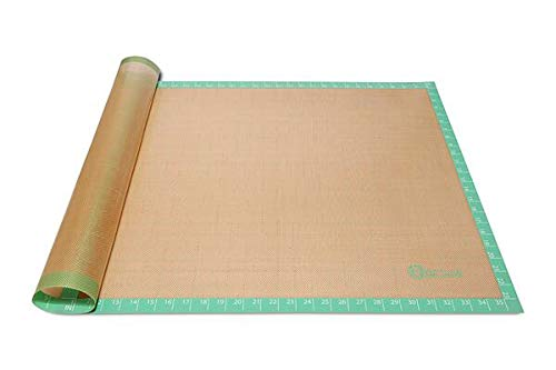 """Jumbo Non-stick Silicone Pastry Mat   Size 36"""" by 24"""" Inches   Anti-slip surface Perfect for Rolling Dough, Various Pastries, and Art and Crafts Projects"""
