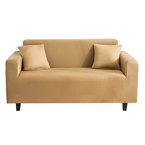 Funda Sofá 4 Plazas Amarillo Impresión Universal Cubierta de Sofá Funda de Sillón Spandex Stretch Cubre Sofá Funda Furniture Protector Antideslizante Sofa Couch Cover 235-300 cm
