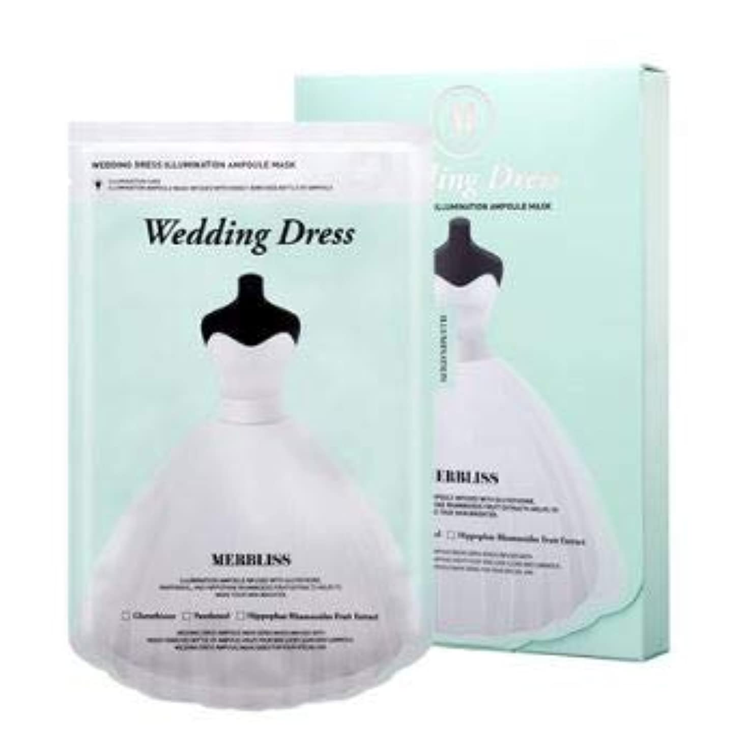 クラッシュぬいぐるみ郵便屋さん[Merbliss] Wedding Dress Illumination Ampoule Mask 25gx5ea /ウェディングドレスイルミネーションアンプルマスク25gx5枚 [並行輸入品]