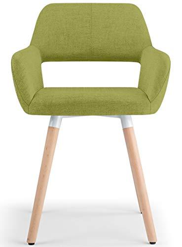 BAR Stools UK Oslo Tissu Chaise Salle à Manger Vert