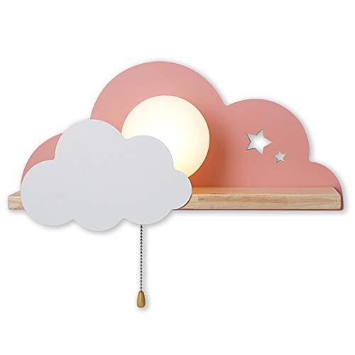 ANKBOY Lampara de Pared Infantil Nube Aplique Pared Infantil Noche la luz Fiesta Lámpara de Habitación de Niños LED Con Interruptor, Luz de Pared Dormitorio Interior para NiñOs JardíN de Infantes