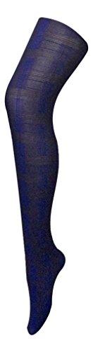 Sock Snob Opaque Blue Skye Designer Panty Een maat 8-14 uk, 36-42 eur Blauw