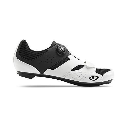 Giro Savix - Zapatillas de Ciclismo para Hombre, Color Blanco y Negro, Hombre, Zapatillas para Bicicleta de Carrera, Blanco y Negro, 50 EU