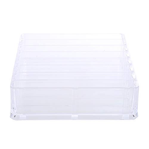 Organizador transparente para pinceles de maquillaje, 8 ranuras, acrílico, para escritorio, organizador...