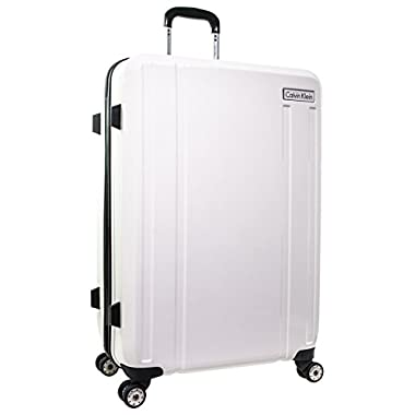 Calvin Klein Beacon 28  Expandable Hardside Spinner, White