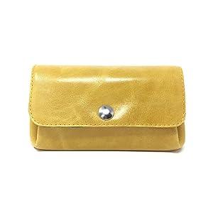 Portemonnaie Leder gelb Geldbörse Geldbeutel
