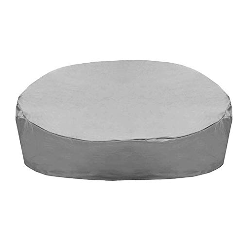InkFenm Garden Sofa Cover,Waterproof Outdoor Garden Furniture Covers Rain Snow Dust Covers Round Daybed Sofa Table Chair Dust Proof Cover,Gray,223 * 216 * 40.6/90cm