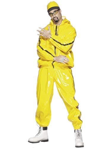 Mens 1990S Ali G Tv Comedy Yellow Rapper Shell Suit Stag Do Halloween Celebrity Fancy Dress Costume Outfit (Large (42-44