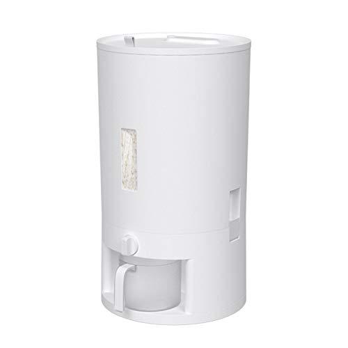 Cubo de arroz Caja de almacenamiento de arroz Caja de grano sellado grande Almacenamiento de grano Gran Organizador de cocina con cilindro de arroz medible - BPA Diseño de plástico y hermética