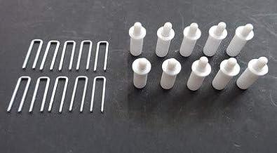 Amazing Drapery Hardware Plantation Shutter Reparatie Kit: 10 Tilt Rod Louvers nietjes Plus 10 veerbeladen sluiterpennen