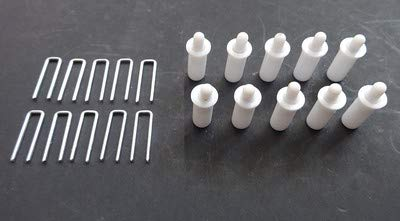 Amazing Drapery Hardware Plantation Shutter Repair KIT : 10 Tilt Rod Louvers Staples + Plus + 10 Spring Loaded Shutter Pins