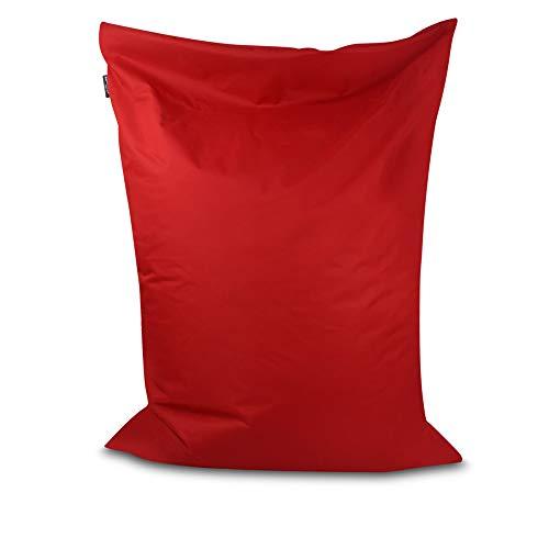Sitzsack Bodenkissen Indoor Outdoor Riesensitzsack Größen & Farben wählbar Kinder Bean Bag Erwachsene Wasserabweisend Schmutzabweisend (Rot-100x70 cm)
