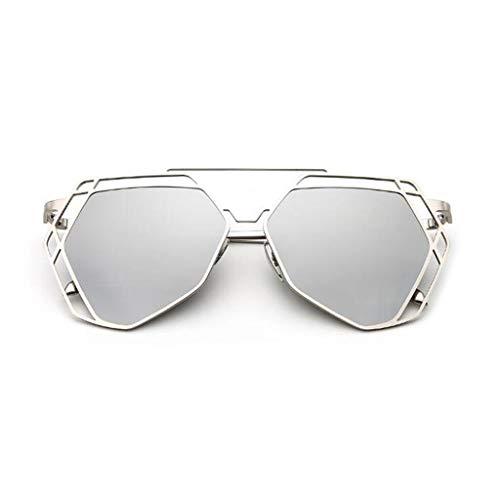 Yayan Gafas De Sol Espejo Decorativo Metal Vintage Movimiento Ultraligero Luz Polarizada Playa Anti-UV400 (Color : 3)