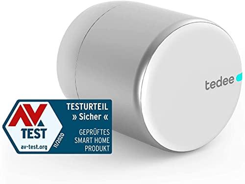 tedee Lock, Elektronisches, smartes Türschloss | einfach nachrüstbar | Steuerung via Bluetooth, intelligente Zutrittsverwaltung aus der Ferne per App | akkubetrieben | iPhone & Android | Smart Home