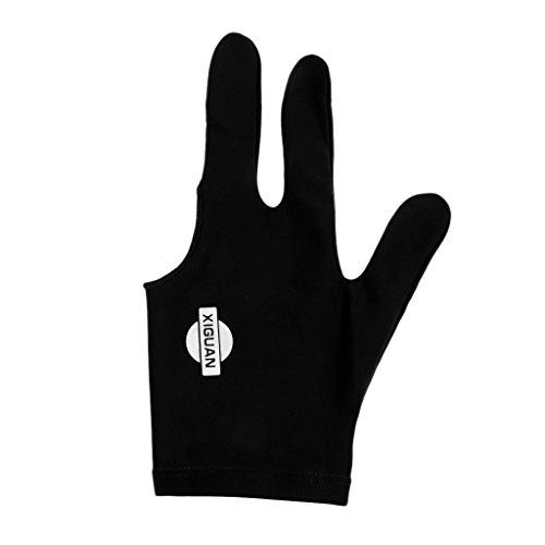 MagiDeal Billardhandschuh - Billiard Glove 3 Finger Snooker Handschuh - Schwarz