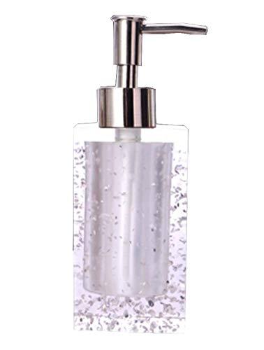 Salle de bains distributeurs de savon Shampooing Bouteilles Container [Blanc]
