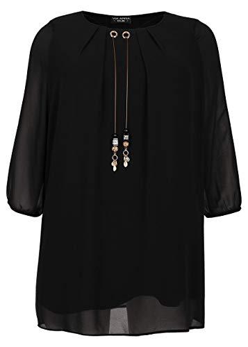 Via Appia Due Damen Elegante Bluse mit Anhänger-Verzierung