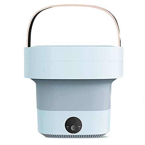 LISM Lavatrice portatile,Doppia sterilizzazione antibatterica Blu-ray Mini lavatrice,Macchina per la pulizia della biancheria intima dei calzini a basso rumoro,Capacità 4.5L