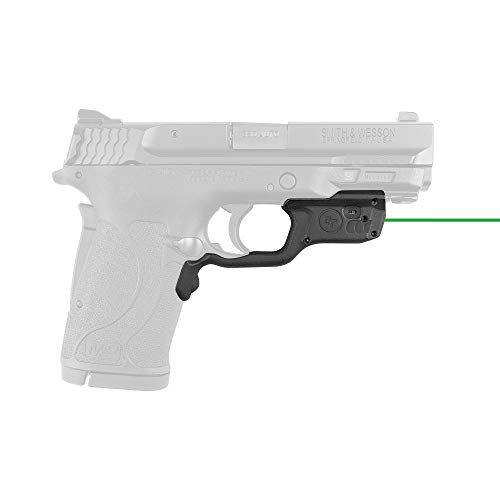 Crimson Trace LG-459G Laserguards with Green Laser, Heavy Duty Construction and Instinctive Activation for Smith & Wesson M&P9EZ, M&P380EZ and M&P22 Compact, Defensive Shooting and Competition