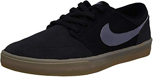 Nike Herren Sb Portmore Ii Solar Skateboardschuhe, Schwarz (Black/Dark Grey/Gum Light Brown 009), 44 EU