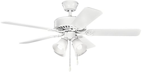 Kichler 339240MWH, Renew Premier Matte White 50' Ceiling Fan with...