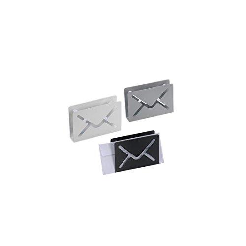 Maiuguali - 11196 - Porta corrispondenza Lettera in metallo in 3 varianti bianco grigio o nero Cambia descrizione in:Portacorrispondenza lettera in metallo in 3 varianti di colore: bianco, grigio o nero. Dopo l'acquisto inviaci una email per la scelta colore.