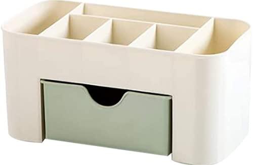 WUDIAN Organizador de maquillaje, caja organizadora de cajones de maquillaje de plástico, organizador de joyas de maquillaje multifunción, accesorios cosméticos cajas de almacenamiento de maquillaje