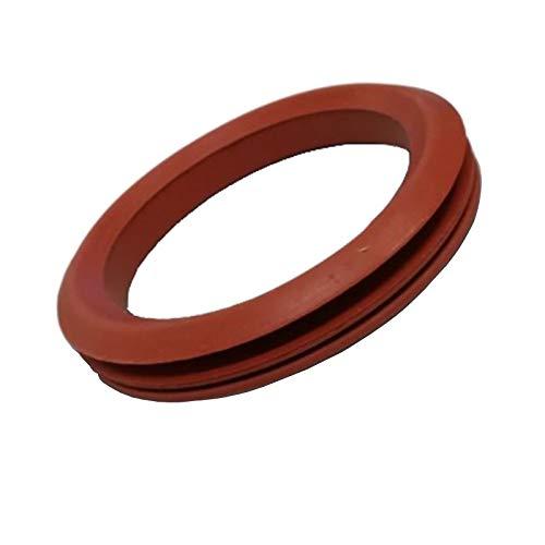 Easyricambi Junta de silicona roja para desagüe de humos para inserciones y tubos de estufas de pellet. Diámetro interior 85 mm exterior 110 mm (para palazzetti Ecofire)