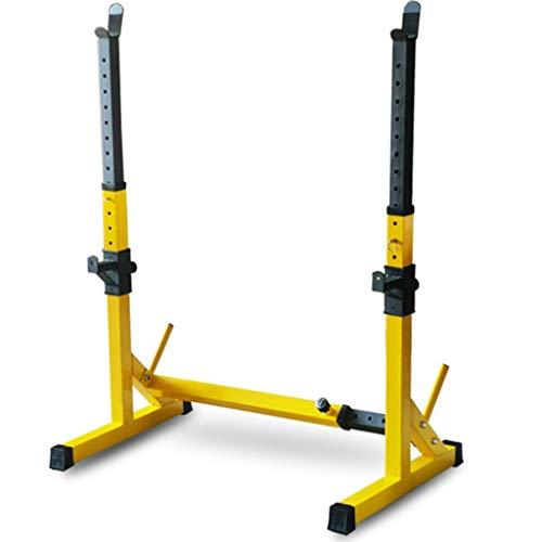 Squat rack Bench Press Multifunctional shelf Adjustable bracket Home indoor gym Strength training stand Men#039s fitness barbell rack Squat rack  Color : Yellow  Size : 83~1195681~131cm
