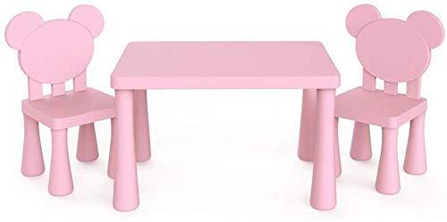 Lsmaa Sillas mesas de Escritorio Conjunto de Muebles for niños Niños Niños Niñas Estudio Jardín Maternal (Color: T2) (Color : T17)