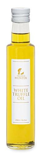 TruffleHunter weißes Trüffelöl (1 x 250 ml) Doppelkonzentrat Olivenöl kaltgepresst mit echtem Trüffel – Delikatesse Gewürz Marinade – vegetarisch vegan