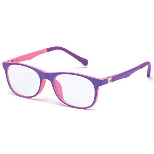 PdnIds Kids Blue Light Blocking Glasses Filter Blue Ray Computer Game Glasses & UV Glare, Boy and Girls for 5-15